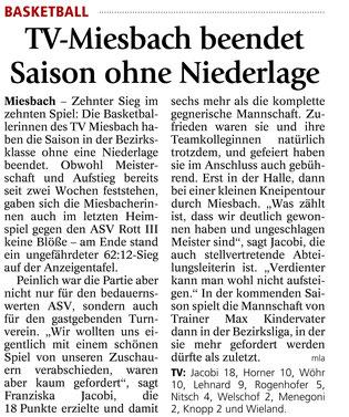 Bericht des Miesbacher Merkur am 2.4.2014 - Zum Vergrößern Klicken