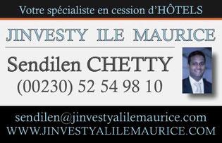 JINVESTY ILE MAURICE : VENTE HOTEL ILE MAURICE