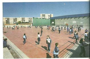 Polideportivo 1987. Cortesía de Alberto García
