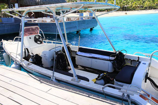 HiRO DiVE boat and equipments