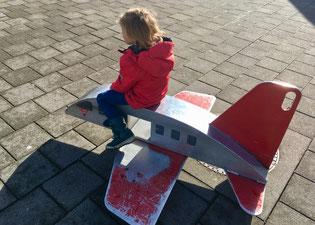 Flugzeug zum darauf sitzen