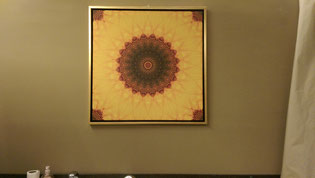 Leinwand mit Gold-Schattenfugenrahmen, 80x80cm