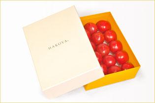 HAKOYAプロジェクト例 素敵な化粧箱に奇跡のフルーツトマトを詰めました