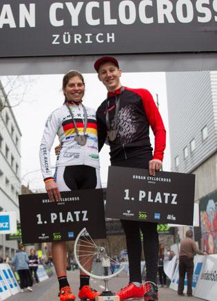 Die beiden Sieger: Elisabeth Brandau und Severin Sägesser ©radsportphoto.net/Steffen Müssiggang