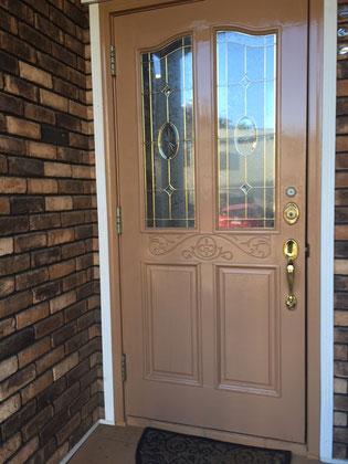 輸入玄関ドア塗装後