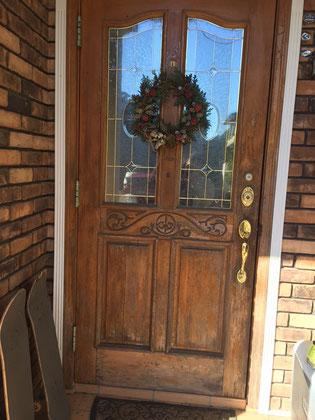 輸入玄関ドア塗装前