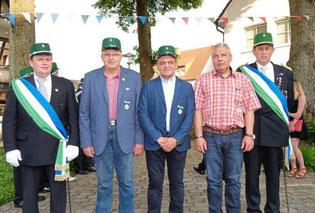 Treue Mitglieder, die seit 25 Jahren bei den Bürgerschützen sind, wurden ebenfalls geehrt.