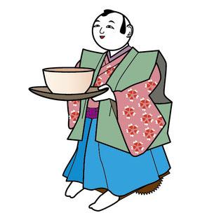 移動し、茶を運ぶからくり人形