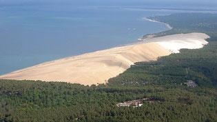 Dune du Pilat par la mer
