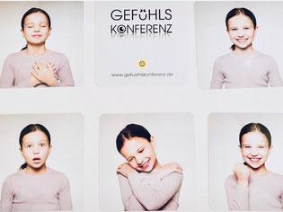 Verschiedene Gefühle und verschiedene Gesichtsausdrücke