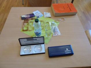 Anschauungsmaterial für den Beruf des Optikers
