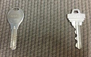 ディンプルキーとピンシリンダーの鍵