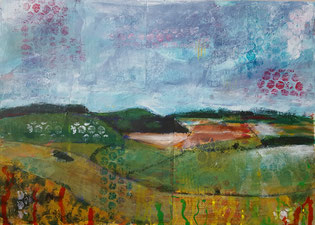 """Easton Hollow"" 26.2 x 36.5cm, mixed media on cradled board. EH01mm."