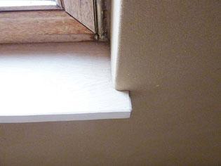 Fensterbrett - Fensterlaibung mit Lehmputz