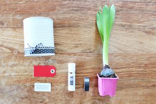 Bild: last-minute DIY Geschenkideen, Geschenke zum Valentinstag oder einfach mal so, Blumen Upcycling, gefunden auf Partystories.de