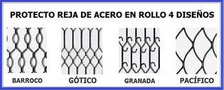 PROTECTO REJA DE ACERO EN ROLLO 4 MODELOS