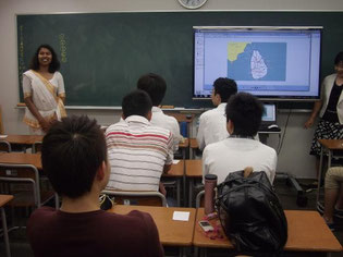 スリランカの文化・教育について学んでいます。