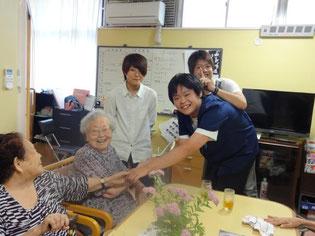 おばあちゃんから元気をもらいました