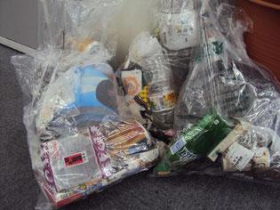 30分の清掃でこれだけのゴミが集まりました