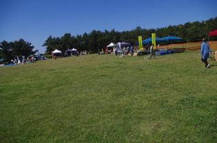 広い会場の稲毛海浜公園