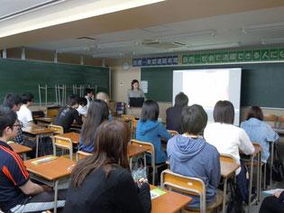 また、生徒たちも真剣に聴いていました。