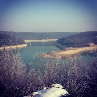 Le Pont de la Pyle, Lac de Vouglans.
