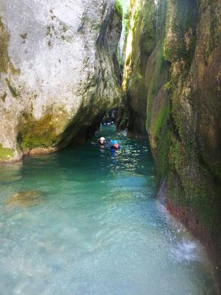 Canyoning Aix-les-bains Pont du diable dans les Bauges