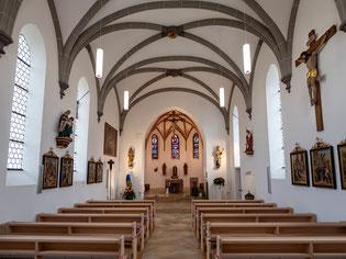 Der Chor der Kirche St. Georg nach Innenrenovierung 2017