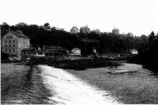 Lahnwehr und Kirchhofsmühle, um 1915