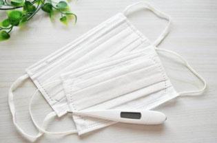 コロナウイルス感染拡大防止 マスクの着用及び、事前の検温を