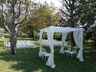location chaises et tables cérémonie laïque, mariage Marseille 13008