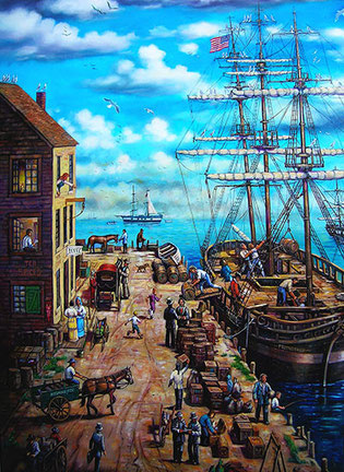 """Salem Habor - 1825"" - Custom Painting by Jack Connelly"