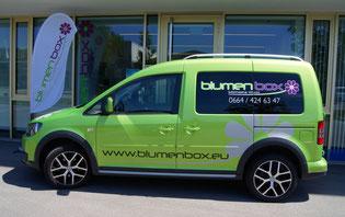 Lieferwagen VW Caddy blumenbox Lieferservice Blumen