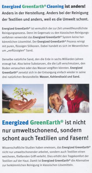 Müden Reinigung GmbH® Leistungen A-Z, GreenEarth, Flyer, Cleaning ist anders