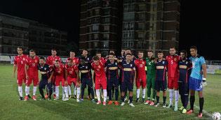 17/08/17: L'amichevole contro gli albanesi del Tirana persa 1-2