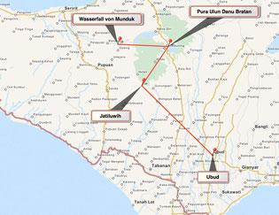 Bild: Karte der Tour 3 von Bali