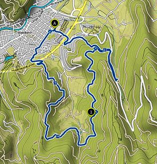 Bild: Wanderkarte von Waldkirch nach Altersbach