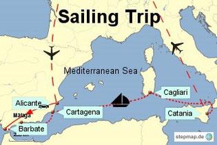 Bild: Segeltrip von Spanien nach Sizilien