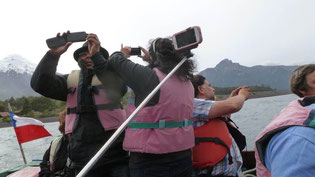 Bild: Chilenen machen ein Selfie