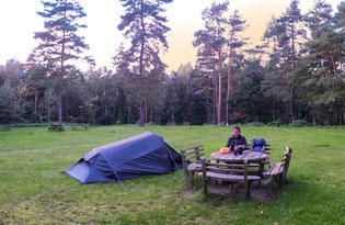 Bild: Auf dem Campingplatz