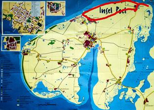 Bild: Karte von der Insel Pol