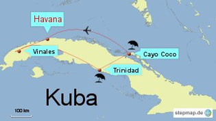 Bild: Karte von Kuba