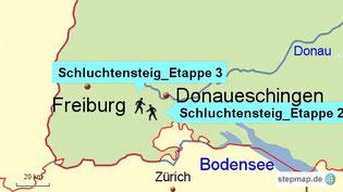 Bild: Wanderungen bei Donaueschingen und Freiburg