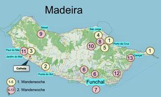 Bild: Karte von Madeira