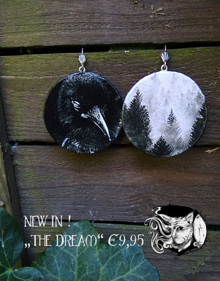 Catmansion - Extraordinary spooky jewellery - Ohrhänger The Dream - Zebraspider DIY Blog