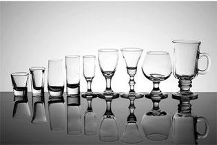 Cada trago tiene su propio vaso