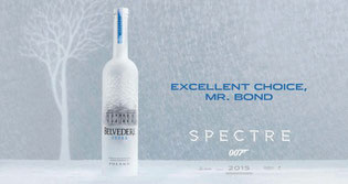 """spectre"",""james bond y vodka Belvedere"""