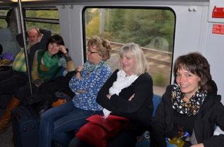 zufriedene Gesichter bei den Damen. Nur Lothar und ...