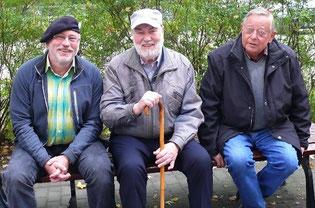 So müde sehen die Drei nicht aus.