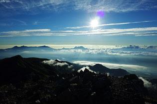 白馬岳への登山道から